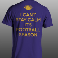 Sassy Frass Funny Can't Stay Calm Football Season Purple Sweet Girlie Bright T Shirt