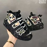 Air More Uptempo Black Camo Sneaker size 40-47