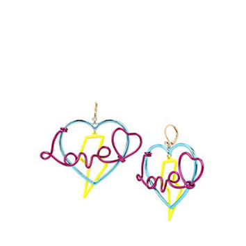 HARLEM SHUFFLE LOVE EARRINGS: Betsey Johnson