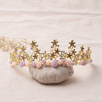 Accessory Vintage Headwear Hair Accessories Crown Wedding Dress Prom Dress [6258303814]