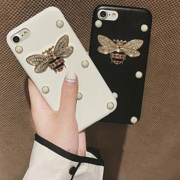 One-nice™ Pearl bee iPhone Phone Cover Case For iphone 6 6s 6sp 7 7plus