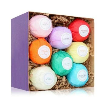 8 Essential Oil Bath Bombs Gift Set