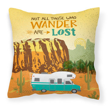 RV Camper Camping Wander Fabric Decorative Pillow VHA3027PW1818