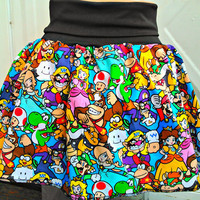 Super Mario Bros. skirt/babydoll shirt Super Smash Nintendo