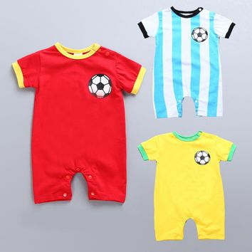 2018 carnaval kigurumi costume world cup football fans baby rompers soft clothes for kids
