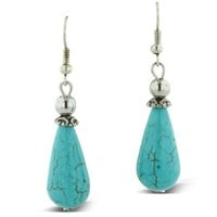 Trendy Turquoise Drop Dangle Earrings