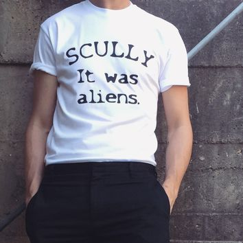 The X Files Scully It Was Aliens Tee