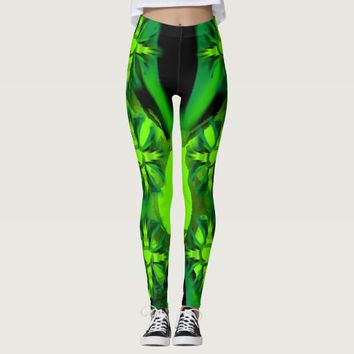 LEGGINGS GREEN CROSS DESIGN HAVIC ACD