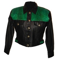 Jacket of Leather & Snakeskin