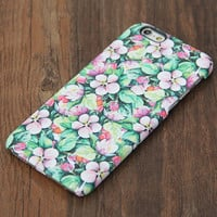 Vivid Flowers Pattern iPhone 6s Case/Plus/5S/5C/5/4S Protective Case #737