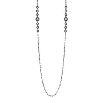 "0.76ct 14k Black Rhodium Gold 28"" Diamonds by the Yard Necklace"