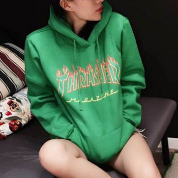Thrasher men and women long sleeved coat Sport hoodie casual Sweater-1