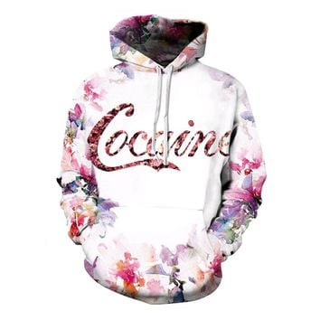 Cocaine Flowers Hoodies All Over Print Sweater
