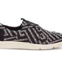 TOMS Black Tribal Woven Women's Del Rey Sneakers Black