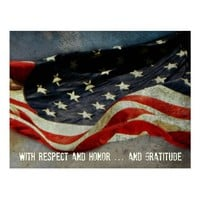 Respect, Honor and Gratitude Veterans Day Postcard