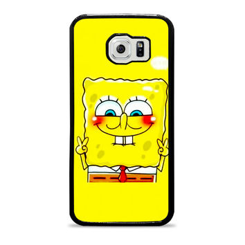 spongebob and patrick best friend 1 cartoon couple Samsung Galaxy S6 Case