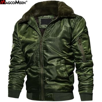 Trendy MAGCOMSEN Winter Coats Men Thermal Thicken Woolen Windproof Tactical Man Jackets  Military Style Army Pilot Coats 3XL AG-SSFC-32 AT_94_13