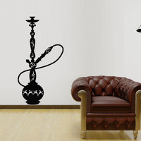 Wall Decal Sticker Hookah Hooka Shisha Lounge Relax Inscription Bar Hause M1579