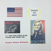 Parks and Recreation inspired stickers