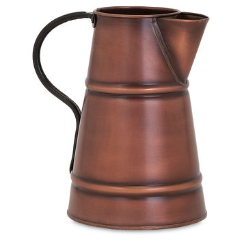 "10"" Nivan Pitcher, Copper, Decorative Pitchers"