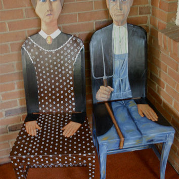 American Gothic chairs by FendosArt on Etsy
