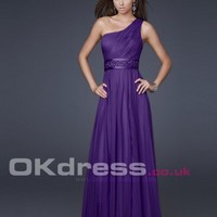 Natural Sleeveless Sequin Floor-Length Long Prom Dresses - by OKDress UK