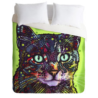 Dean Russo Watchful Cat Duvet Cover