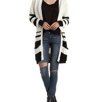 Combo Border-Striped Duster Cardigan Sweater by Charlotte Russe