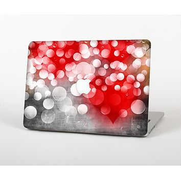 The Bright Unfocused White & Red Love Dots Skin for the Apple MacBook Pro Retina 13""