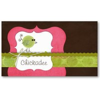 Chickadee Business Cards from Zazzle.com
