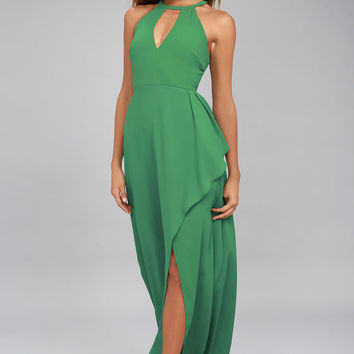 I Spy Green Maxi Dress