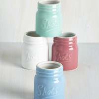 Pastel Jar You With Me? Shot Glass Set by ModCloth
