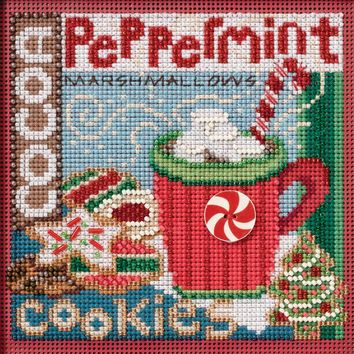 """Santa's Treats Winter (14 Count) Mill Hill Buttons & Beads Counted Cross Stitch Kit 5""""X5"""""""
