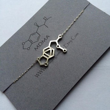 MDMA Necklace, MDMA Molecule Necklace, Molecule Necklace, Science Jewellery, Science Jewelry, Christmas Gift