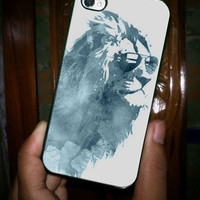 Sunny Lyon King Art Paint Blue iPhone Case and Samsung Galaxy Case