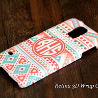 Ethnic Geometric Custom Monogram 3D-Wrap Samsung Galaxy S5 Case Galaxy S4 Case Galaxy S3 Case Galaxy Note 3 and Note 2 Case