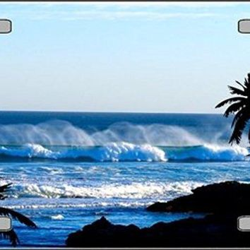 Ocean Wave Vanity Metal Novelty License Plate Tag Sign