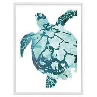 Tropical Sea Turtle Wall Art by Minted®