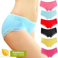 Panties for Women Briefs Female Cotton Underpants Women Lace Sexy Panties Women's Underwear Fiber Calcinha Panties Ladies NK1003