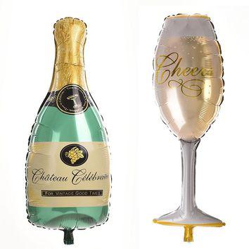 1 Pcs Novelty Champagne cup beer Bottle Balloons foil balloon helium ballons Classic Ball Toys