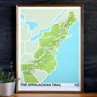 Brainstorm Prints Appalachian Trail 4 Color Screenprint Poster