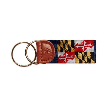 Maryland Flag Needlepoint Key Fob by Smathers & Branson