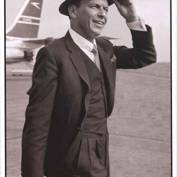 Frank Sinatra London Airport 1961 Poster 24x33