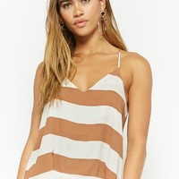 Striped V-Neck Cami Top