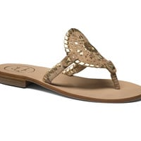 Jack Rogers Georgica Sandal- Cork and Gold- FINAL SALE