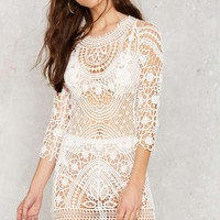 Crochet There Lace Dress