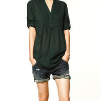 GAUZE SHIRT - Shirts - Collection - TRF - ZARA United States
