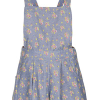 Floral Chambray Playsuit - Rompers - Clothing - Topshop USA