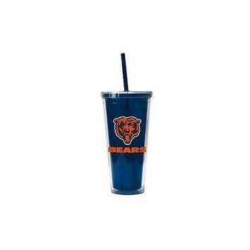 NFL Chicago Bears 22 oz Color Double Wall Acrylic Travel Tumbler Cup