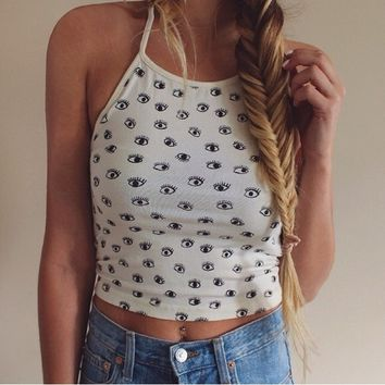 Brandy Melville 'All Eyes On You' Sachi Halter Top